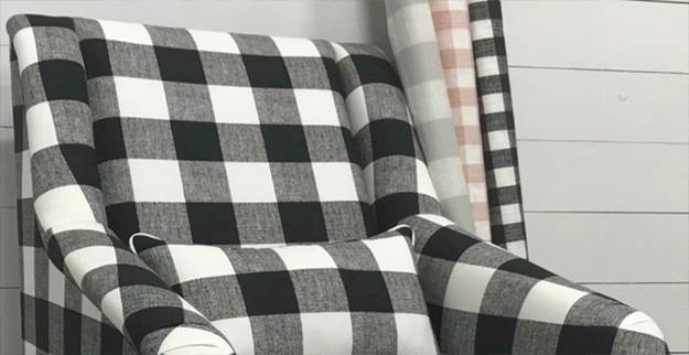 Plaid and Check Upholstery Fabric