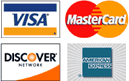 Credit Cards Accepted: Visa, MasterCard, Discover, AMEX