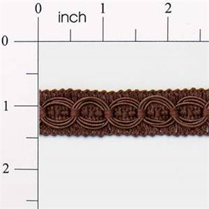 """IR4437 - CH - Collette 3/4"""" Woven Gimp - Chocolate - 20 YD REEL"""