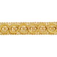 "IR4437 - APC - Collette 3/4"" Woven Gimp - Beige/Gold - 20 YD REEL"