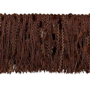 "IR4450 - 1CH - 3"" Ric-Rac Patch Cut Fringe - CHOCOLATE- 20 YD Reel"