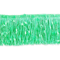 "IR4450 - LM - 3"" Ric-Rac Patch Cut Fringe - LIME - 20 YD REEL"