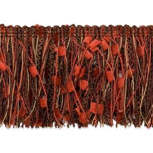 "IR4450 - CHM 3"" Ric-Rac Patch Cut Fringe CHOCOLATE MULTI 20 YD REEL"
