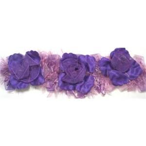 "LB5665 - LPK - 2 1/2"" Organza Light Pink Flower 5665 10yd REEL"