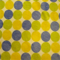 Random Multi Polka Dots Sage/Blue/Yellow
