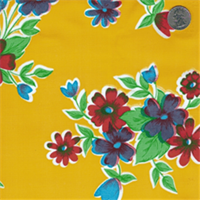 Yellow Floral #2 Oilcloth 12 Yard Bolt