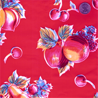 Red Fruit Oilcloth 12 Yard Bolt