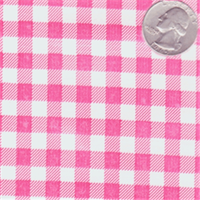 Pink Check Oilcloth 12 Yard Bolt