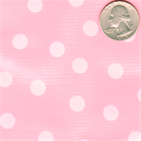 Pink on Pink Dot Oilcloth 12 Yard Bolt