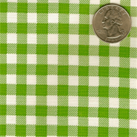 Light Green & White Check Oilcloth 12 Yard Bolt
