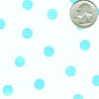 Blue Dot on White Oilcloth Fabric 12 Yard Bolt