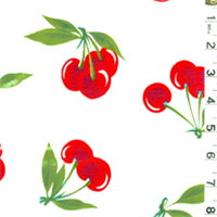 White Cherry Oilcloth 12 Yard Bolt