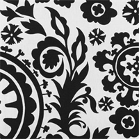 Suzani Black By Premier Prints - Drapery Fabric