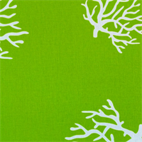 Coral Chartreuse White By Premier Prints - Drapery Fabric