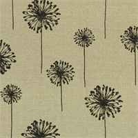 Dandelion Black Denton by Premier Prints - Drapery Fabric