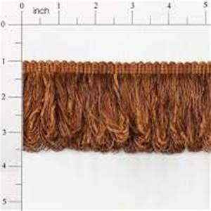 "LB5632E 3"" Chenille Loop Fringe Pumpkin Brown - 10 yard reel"