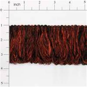 "LB5632K 3"" Chenille Loop Fringe Cranberry & Black - 10 yard reel"