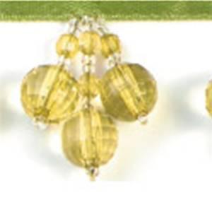 "IR2599LM 1"" Grape Cluster Bead Fringe - Lime - 10 yard reel"