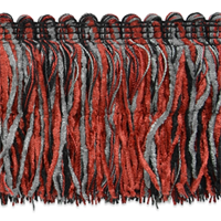 "IR4345RDM 4"" Chenille Cut Fringe - Red Multi - 20 yard reel"