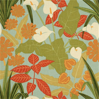 Rowlily Palm Beach by Robert Allen Linen Fabric