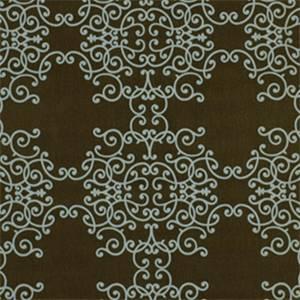 Soft Scrolls Espresso Contemporary Drapery Fabric
