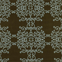 Soft Scrolls Espresso Contemporary Drapery Fabric