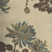 M8820 Delf Floral Upholstery Fabric