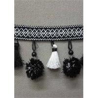 IR6138 KW Black/White Tassel Fringe
