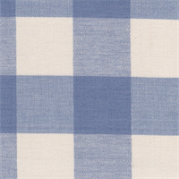 Lyme Sky/Antique White Roth & Tompkins DL71 Cotton Fabric