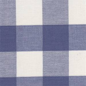 Lyme French Blue/White Roth & Tompkins DL01 Cotton Fabric