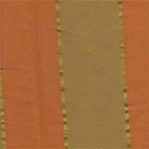 Mysore Orange Spice Stripe Faux Silk Fabric