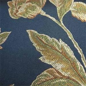 William Black Floral Drapery Fabric