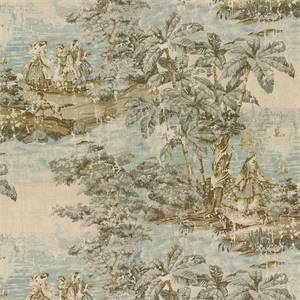 Bosporus 197 Flax Blue Drapery Fabric by Covington