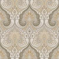 Latika Limestone Paisley Linen Drapery Fabric