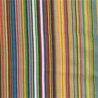 Big Sur Stripe Bk Hot Multi Indoor/Outdoor Fabric