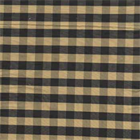 Sunshine Black/Gold Check Silk Drapery Fabric