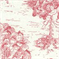 Ort Toile - Pink/White Fabric