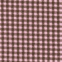 *4 YD PC--Gingham - Pink/Brown Fabric