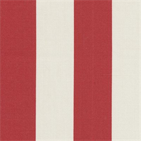 Deck Stripe - Red Indoor/Outdoor Fabric