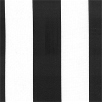 Deck Stripe - Black Indoor/Outdoor Fabric