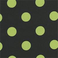 Polka Dot - Black/Lime Indoor/Outdoor Fabric