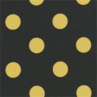 Polka Dot - Black/Yellow Indoor/Outdoor Fabric