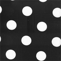 Polka Dot - Black Indoor/Outdoor Fabric