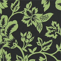 Flower Show - Black/Lime Indoor/Outdoor Fabric