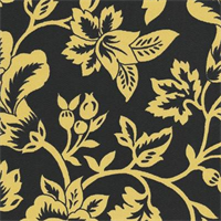 Flower Show - Black/Yellow Indoor/Outdoor Fabric