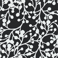 Blossom Vine - Black Indoor/Outdoor Fabric