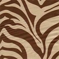 Zebra Suede Brown Animal Print Upholstery Fabric