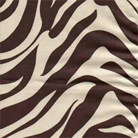 Zebra Suede Black Animal Print Upholstery Fabric