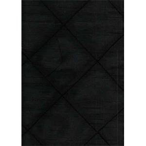 Faux Silk Pintuck Black Drapery Fabric