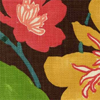 Gorgeous Chestnut Floral Drapery Fabric by Braemore